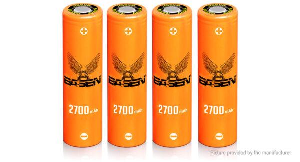 Authentic BASEN IMR 18650 3.7V 2700mAh Rechargeable Li-ion Batteries (4-Pack)