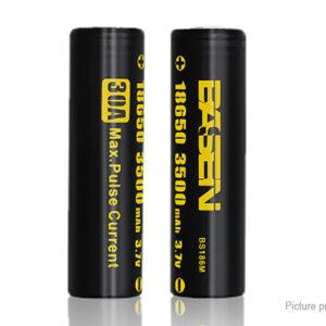 Authentic BASEN IMR 18650 3.7V 3500mAh Rechargeable Li-Mn Batteries (2-Pack)