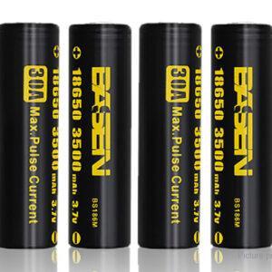 Authentic BASEN IMR 18650 3.7V 3500mAh Rechargeable Li-Mn Batteries (4-Pack)