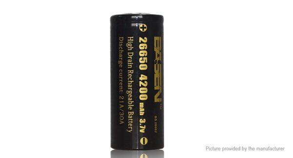 Authentic BASEN IMR 26650 3.7V 4200mAh Rechargeable Li-Mn Battery