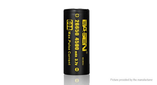 Authentic BASEN IMR 26650 3.7V 4500mAh Rechargeable Li-Mn Battery