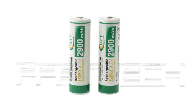 """Authentic BTY 18650 3.7V """"2900mAh"""" Rechargeable Li-ion Batteries (2-Pack)"""