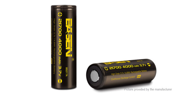 Authentic Basen IMR 21700 3.7V 4000mAh Rechargeable Li-ion Battery (2-Pack)