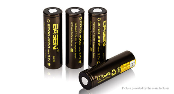 Authentic Basen IMR 21700 3.7V 4000mAh Rechargeable Li-ion Battery (4-Pack)