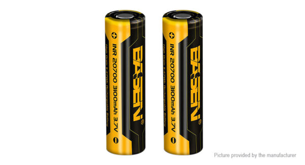 Authentic Basen INR 20700 3.7V 3100mAh Rechargeable Li-ion Battery (2-Pack)