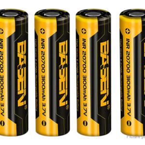 Authentic Basen INR 20700 3.7V 3100mAh Rechargeable Li-ion Battery (4-Pack)