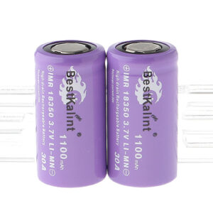 "Authentic BestKalint IMR 18350 3.7V ""1100mAh"" Rechargeable Li-Mn Batteries (2-Pack)"