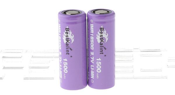 "Authentic BestKalint IMR 18500 3.7V ""1500mAh"" Rechargeable Li-Mn Batteries (2-Pack)"