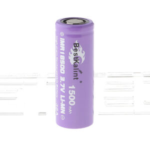 "Authentic BestKalint IMR 18500 3.7V ""1500mAh"" Rechargeable Li-Mn Battery"