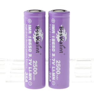 "Authentic BestKalint IMR 18650 3.7V ""2500mAh"" Rechargeable Li-Mn Batteries (2-Pack)"