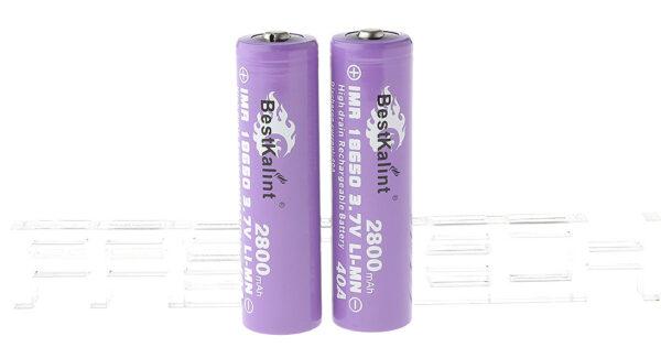 "Authentic BestKalint IMR 18650 3.7V ""2800mAh"" Rechargeable Li-Mn Batteries (2-Pack)"