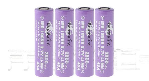 "Authentic BestKalint IMR 18650 3.7V ""2800mAh"" Rechargeable Li-Mn Batteries (4-Pack)"