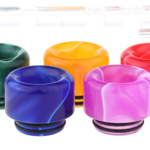 Authentic Clrane Acrylic 810 Drip Tip (5 Pieces)