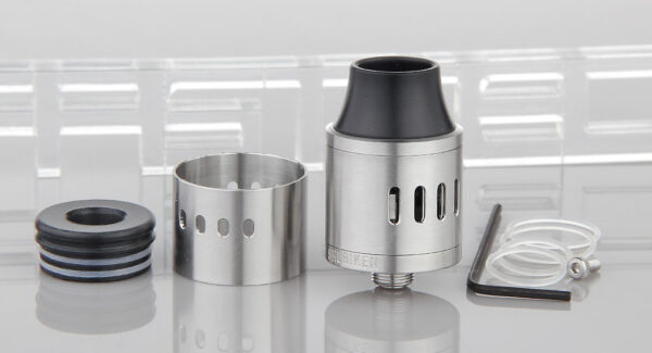 Authentic Cthulhu Shuriken RDA Rebuildable Dripping Atomizer (Silver)