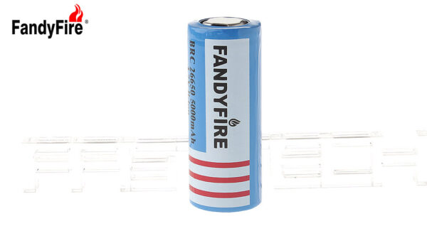 "Authentic FandyFire BRC 26650 3.7V ""5000""mAh Rechargeable Li-ion Battery"