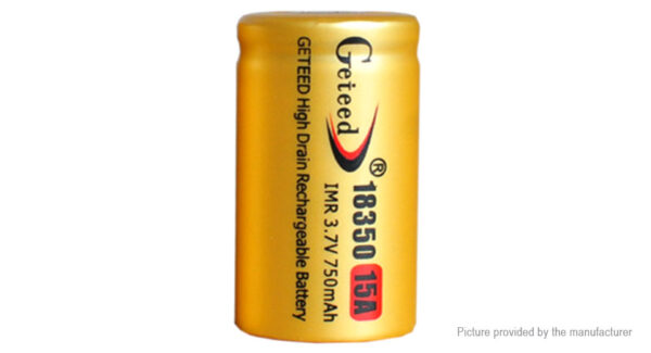 Authentic Geteed IMR 18350 3.7V 750mAh Rechargeable Li-ion Battery