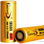 Authentic Geteed IMR 18500 3.7V 1100mAh Rechargeable Li-ion Batteries (2-Pack)