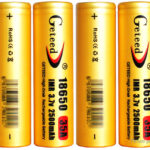 Authentic Geteed IMR 18650 3.7V 2500mAh Rechargeable Li-ion Batteries (4-Pack)
