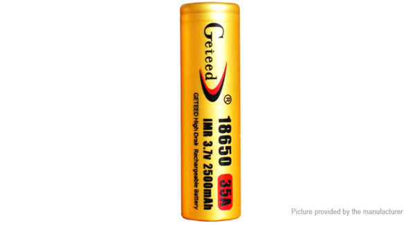 Authentic Geteed IMR 18650 3.7V 2500mAh Rechargeable Li-ion Battery