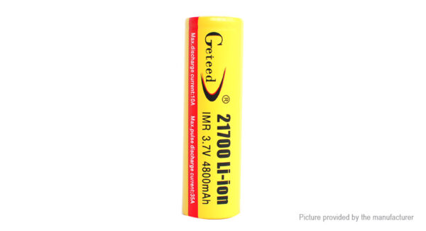 Authentic Geteed IMR 21700 3.7V 4800mAh Rechargeable Li-ion Batteries