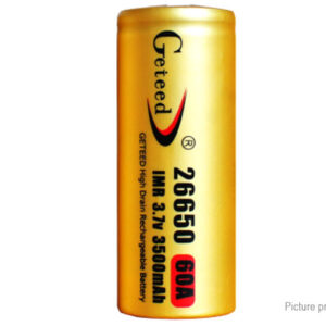 Authentic Geteed IMR 26650 3.7V 3500mAh Rechargeable Li-ion Battery