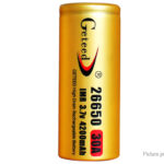 Authentic Geteed IMR 26650 3.7V 4200mAh Rechargeable Li-ion Battery
