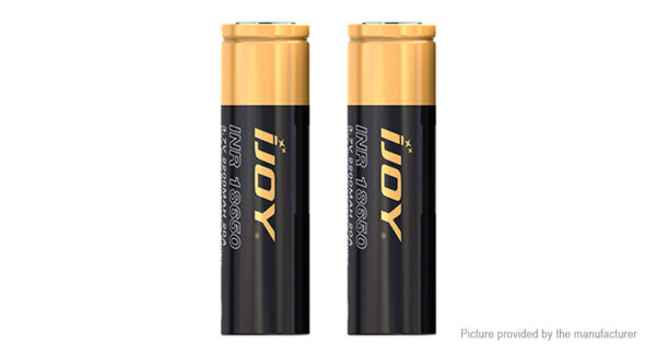 Authentic IJOY INR 18650 3.7V 2600mAh Rechargeable Li-ion Battery (2-Pack)