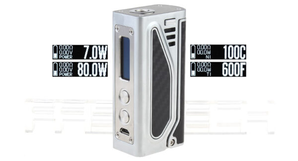 Authentic JomoTech Tomahawk 80W TC VW APV Box Mod (Silver)