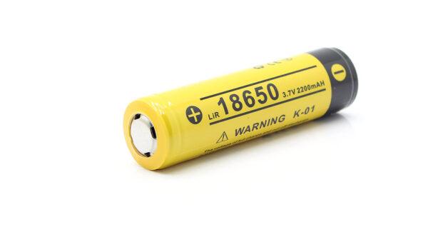 Authentic KLARUS K-01 18650 3.7V 2200mAh Rechargeable Li-ion Battery