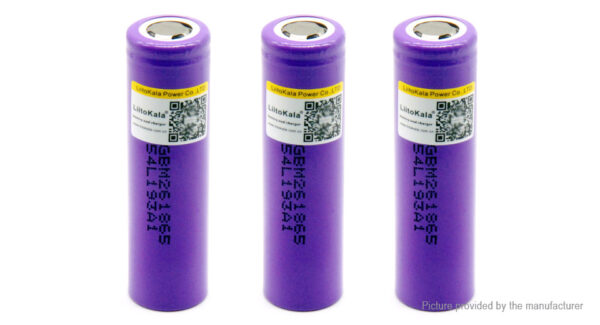 Authentic LiitoKala 18650 3.6V 2600mAh Rechargeable Li-ion Battery (3-Pack)