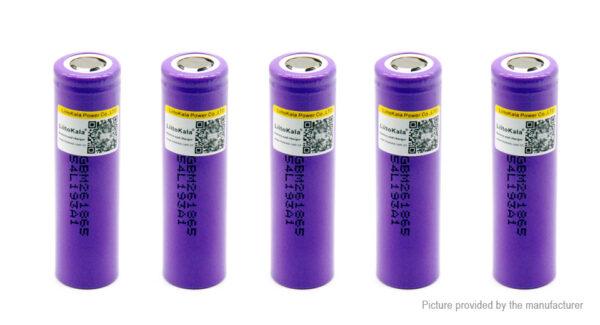 Authentic LiitoKala 18650 3.6V 2600mAh Rechargeable Li-ion Battery (5-Pack)