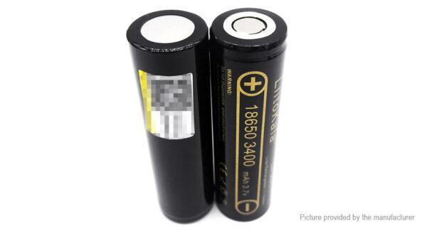 Authentic LiitoKala 18650 3.7V 3400mAh Rechargeable Li-ion Battery (2-Pack)
