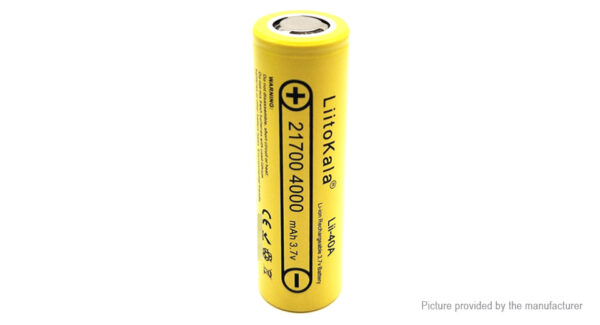 Authentic LiitoKala 21700 3.7V 4000mAh Rechargeable Li-ion Battery