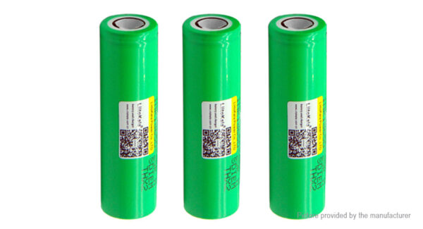 Authentic LiitoKala INR 18650-25R 3.6-3.7V 2500mAh Rechargeable Battery (3-Pack)