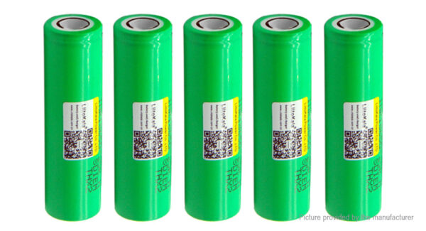 Authentic LiitoKala INR 18650-25R 3.6-3.7V 2500mAh Rechargeable Battery (5-Pack)
