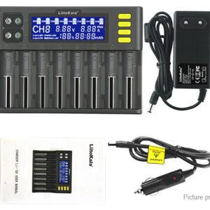 Authentic LiitoKala lii-S8 8-Slot Li-ion/IMR/LiFePO4/Ni-MH/Ni-Cd Battery Charger (EU)
