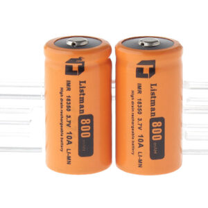 "Authentic Listman IMR 18350 3.7V ""800mAh"" Rechargeable Li-Mn Batteries (2-Pack)"