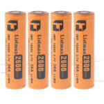 "Authentic Listman IMR 18650 3.7V ""2600mAh"" Rechargeable Li-Mn Batteries (4-Pack)"