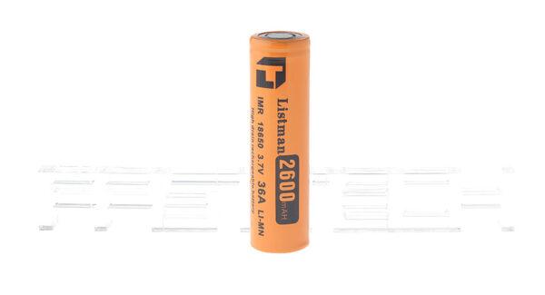 "Authentic Listman IMR 18650 3.7V ""2600mAh"" Rechargeable Li-Mn Battery"