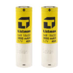 Authentic Listman IMR 18650 3.7V 3000mAh Rechargeable Li-Mn Batteries (2-Pack)