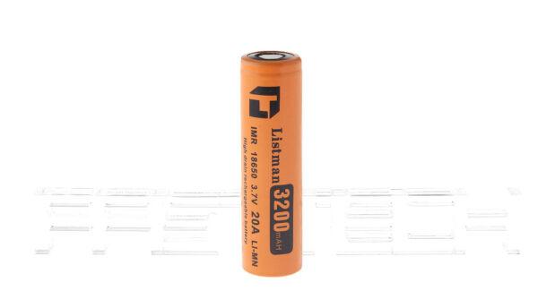 Authentic Listman IMR 18650 3.7V 3200mAh Rechargeable Li-Mn Battery