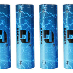 Authentic Listman IMR 20700 3.7V 3400mAh Rechargeable Li-Mn Batteries (4-Pack)