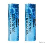 Authentic Listman IMR 20700 3.7V 4200mAh Rechargeable Li-ion Batteries (2-Pack)