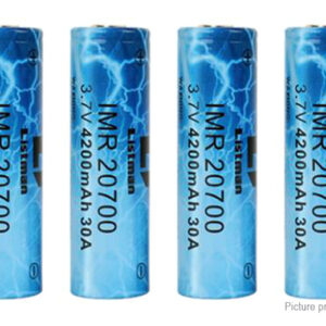Authentic Listman IMR 20700 3.7V 4200mAh Rechargeable Li-ion Batteries (4-Pack)