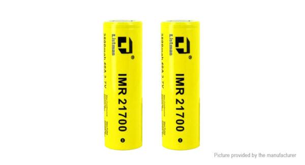 Authentic Listman IMR 21700 3.7V 3800mAh Rechargeable Li-Mn Batteries (2-Pack)
