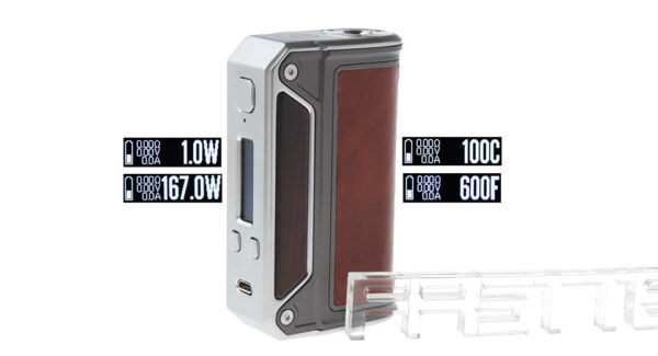 Authentic Lost Vape Therion DNA166W TC VV VW APV Box Mod (Red Brown)