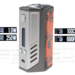 Authentic Lost Vape Triade DNA250W Box Mod (Silver Frame/Vivarium)