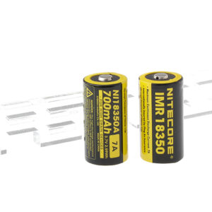 Authentic Nitecore IMR 18350 3.7V 700mAh Rechargeable Li-ion Batteries (2-Pack)