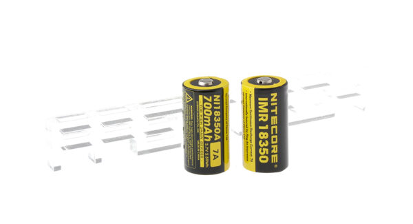 Authentic Nitecore IMR 18350 3.7V 700mAh Rechargeable Li-ion Batteries (2-Pack)