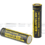 Authentic Nitecore IMR 18650 3.6V 2000mAh Rechargeable Li-Ion Batteries (2-Pack)